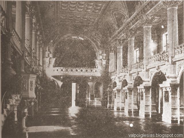Vista hacia el coro antes de 1906