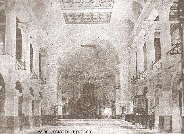 Vista hacia el altar en algún momento del siglo XX