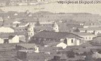 La cuarta iglesia, obra de Santiago Pringle, en la década de 1860. (CO)